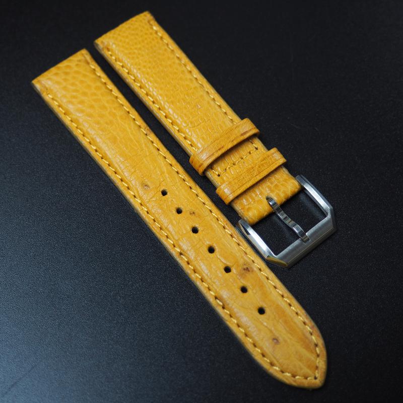 20mm Rolex 黃色鴕鳥皮錶帶
