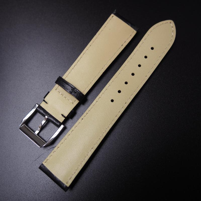 22mm Rolex 黑色鴕鳥皮錶帶
