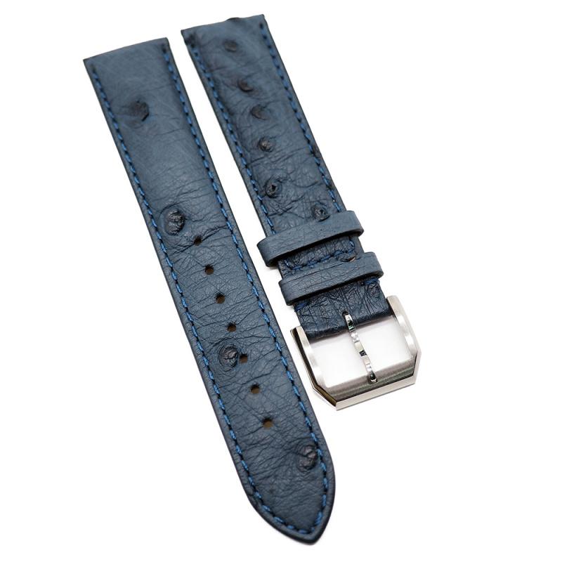 20mm 藍色鴕鳥皮錶帶