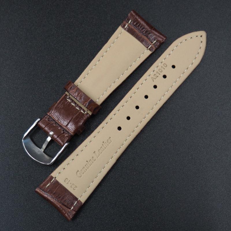 23mm Cartier 棕色鱷魚紋牛皮錶帶