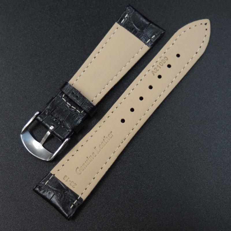 23mm Cartier 黑色鱷魚紋牛皮錶帶