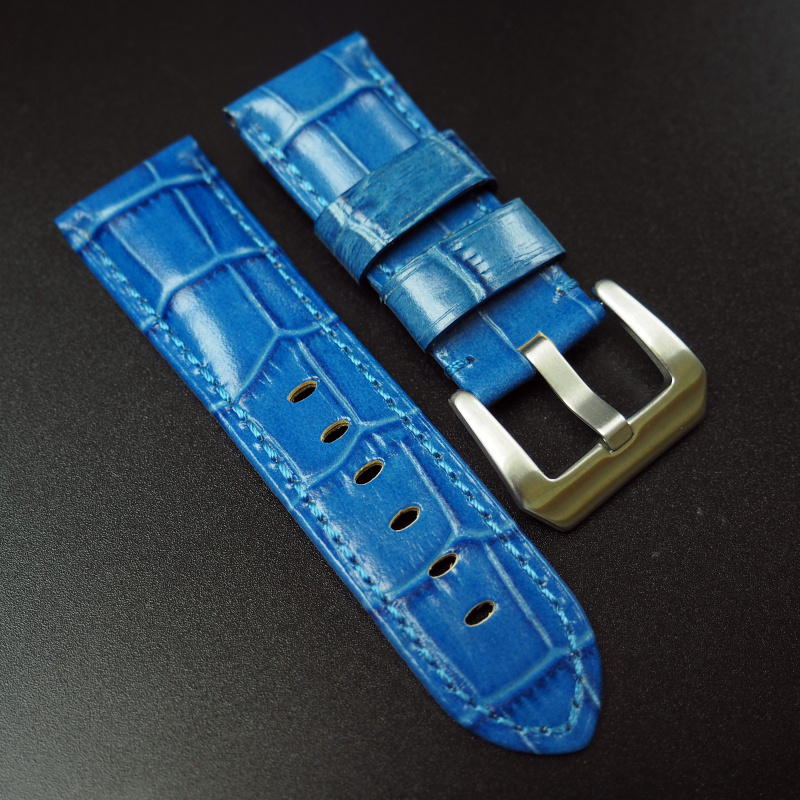 24mm Panerai 藍色鱷魚紋牛皮錶帶 (女裝)