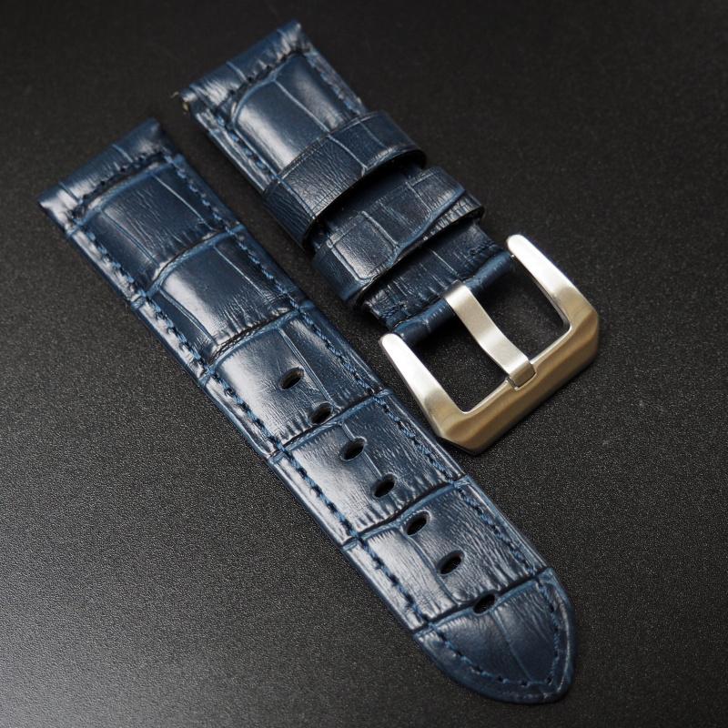 24mm Panerai 藍色牛皮錶帶