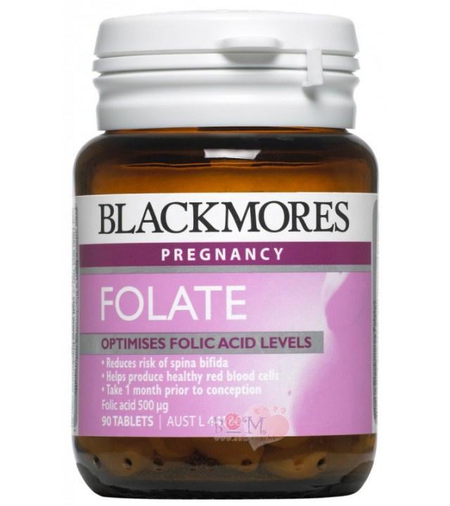 BLACKMORES 澳佳寶 Folate天然葉酸片 500mg (90粒)