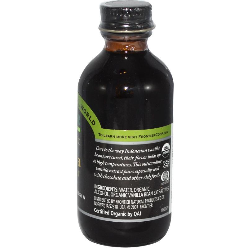 rontier Natural Products - 有機香草(雲尼拿)香精 59g