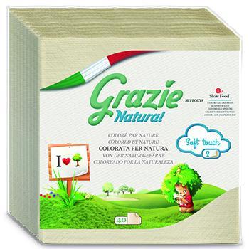 Grazie Natural - 意大利環保餐巾40'sheets