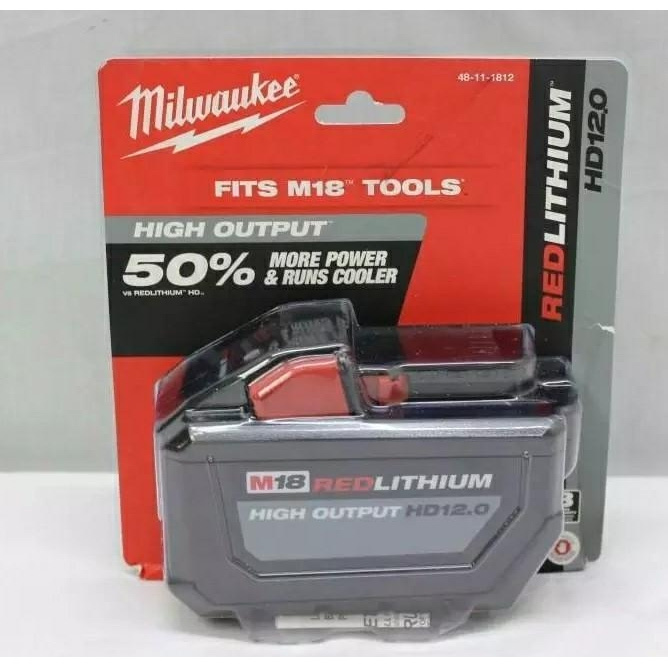 美國空運到港(全新貨)2020,最新版Milwaukee M18 REDLITHIUM HIGH OUTPUT高輸出鋰電池 CP 12.0Ah