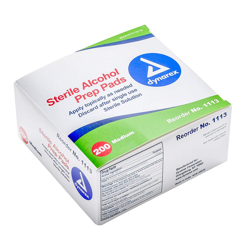Dynarex 70% 酒精消毒紙綿 (200包獨立包裝)