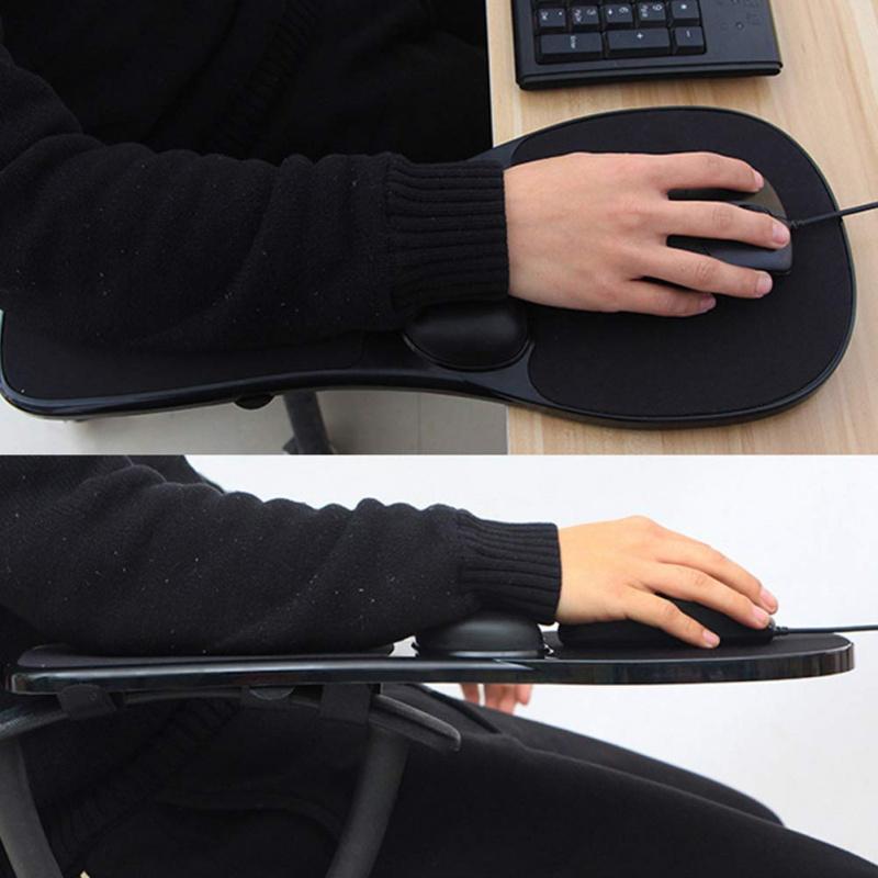 人體工學桌椅兩用電腦手托連滑鼠墊 (記憶棉手腕墊)