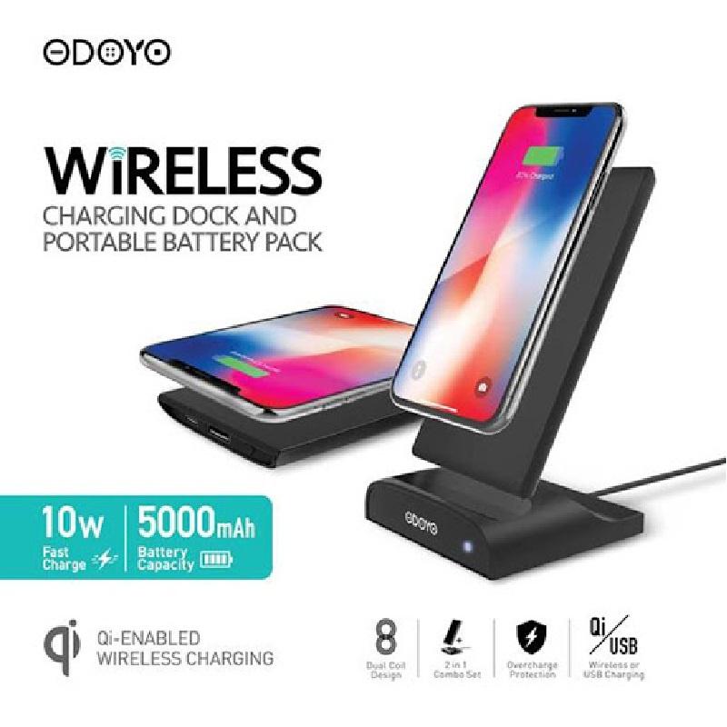 ODOYO XC12BK Wireless Charge Dock And 5000mah Portable Battery Pack【行貨保養】