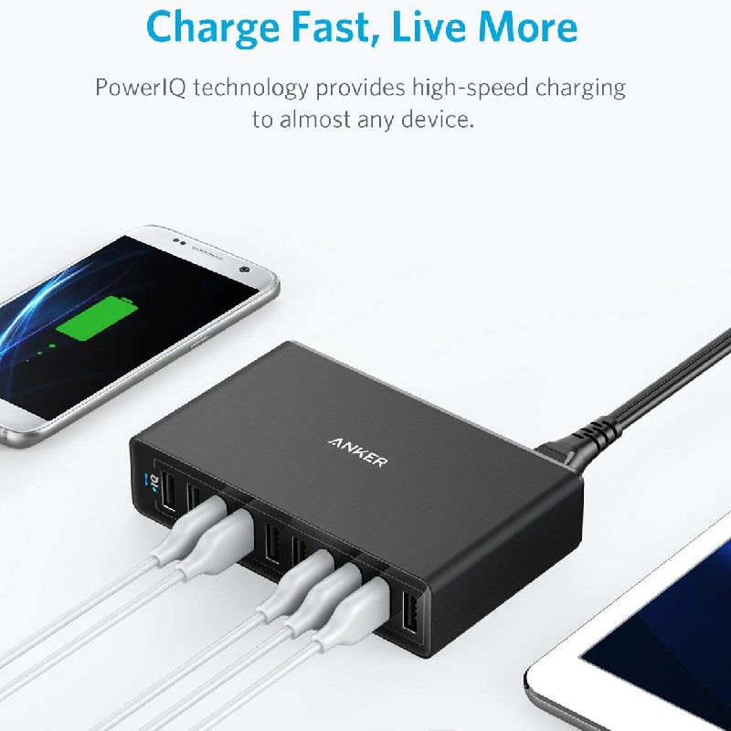 Anker PowerPort 10 60W 10 Port USB Wall Charger【行貨保養】