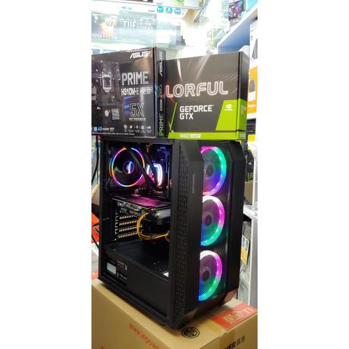 👉🎁🎁AccessPoint{3月強勢優惠!強勁水冷I5 9400F+用好D!MSI 雙風扇GTX1660 SUPER+256G SSD(連正版WIN10)電競組合!即Like即減100}(ASUS H310M+MSI GTX 1660 6G SUPER+DDR4 2666 16G RAM+大容量256G [BLACK KING透側電競機箱🔥