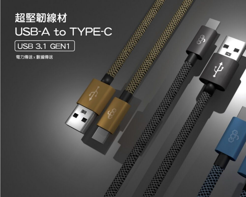 EGO 強韌之3A超速充電線 Type C TO USB 3.1 30cm【行貨保養】