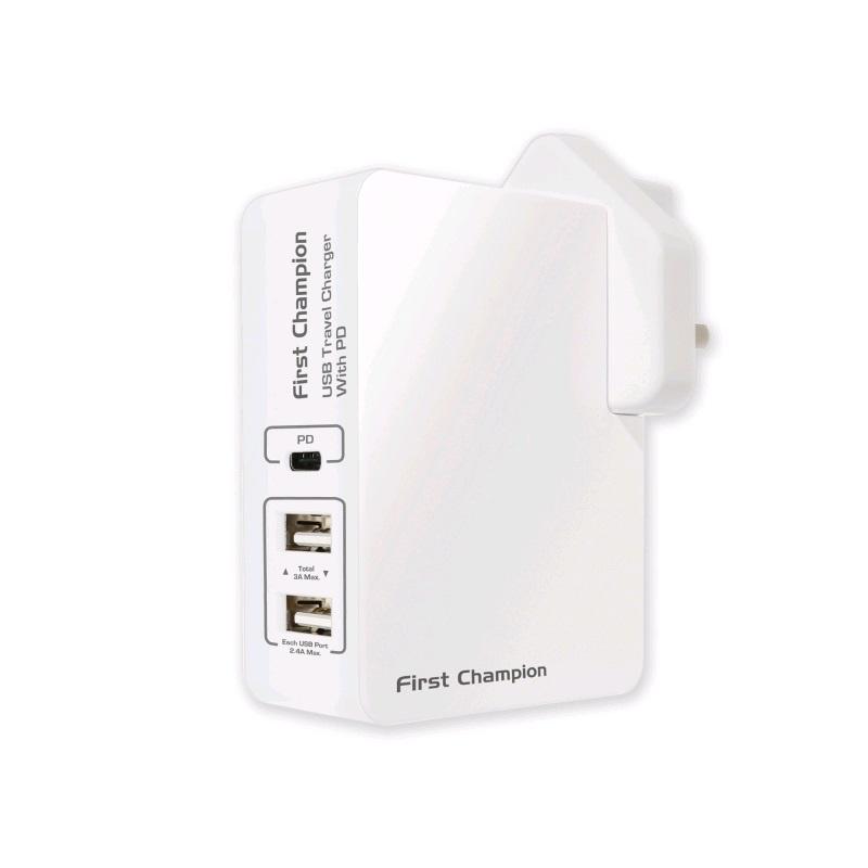 First Champion USB 旅行充電器 UTC345PD【行貨保養】