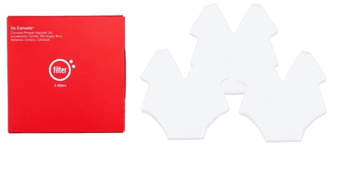 O2 Canada Curve 1.2 口罩 – 濾芯3片裝