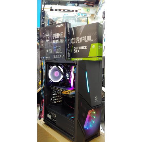 👉🎁🎁AccessPoint{3月強勢優惠!強勁水冷I5 9400F+用好D!!雙風扇GTX1660TI 6G+256G SSD(連正版WIN10)電競組合!即Like即減100}(ASUS H310M+INNO 3D GTX 1660TI 6G+DDR4 2666 8G RAM+大容量256G [BLACK KING透側電競機箱🔥