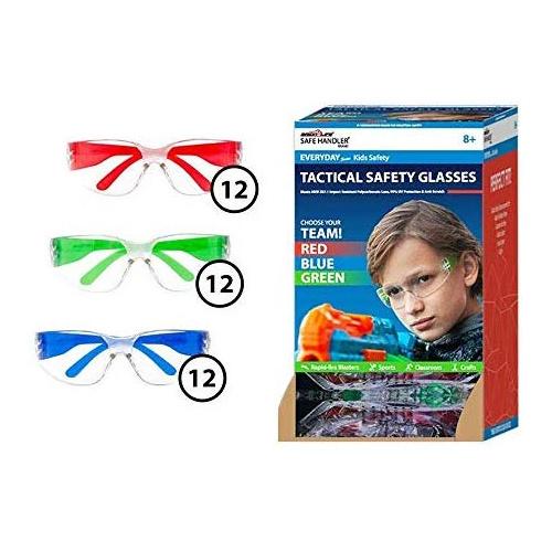 SAFE HANDLER 兒童防飛沫/防紫外光/抗衝擊 安全鏡片護目鏡