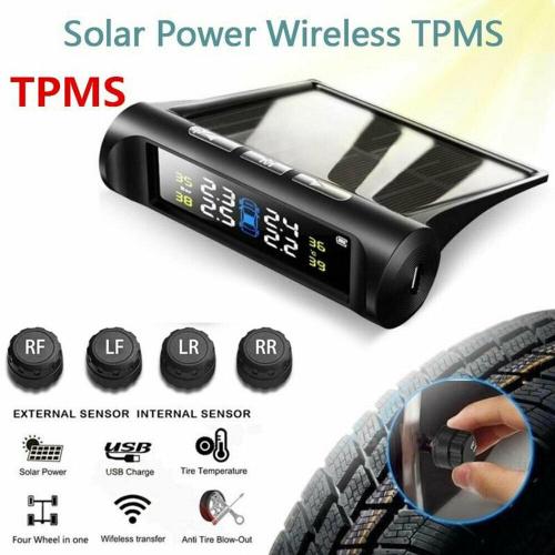 太陽能輪胎氣壓偵測器 外置式 TPMS 胎壓偵測 (彩色/黑白)