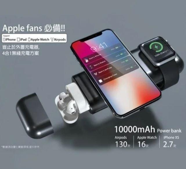 AirAlly - 蘋果設備專用 4合1 行動電源 [2色]