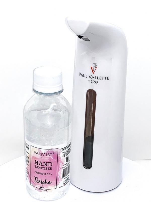 Paul Vallete 電子搓手液機 400ml套裝(搓手液/ 消毒酒精棉)