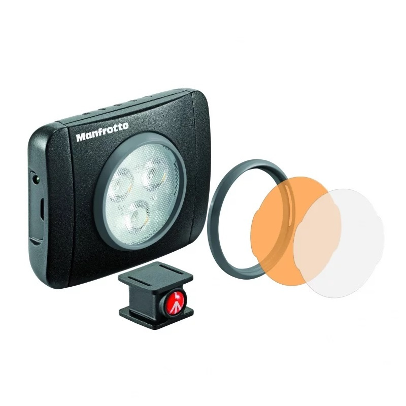 Manfrotto LUMIMUSE SERIES 3 LED LIGHT & ACCESSORIES - BLACK【行貨保養】