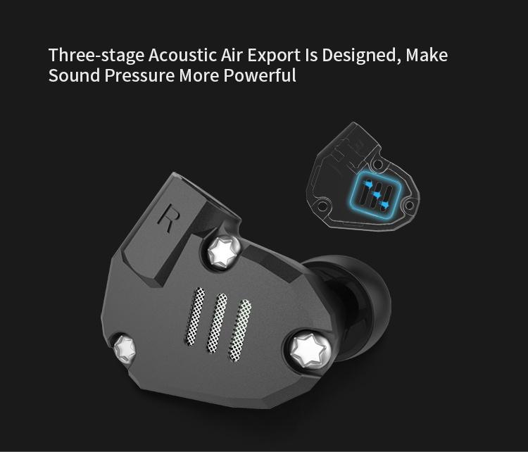 KZ Acoustics ZS6 HIFI Stereo Heavy Bass In Ear Earphone 行貨