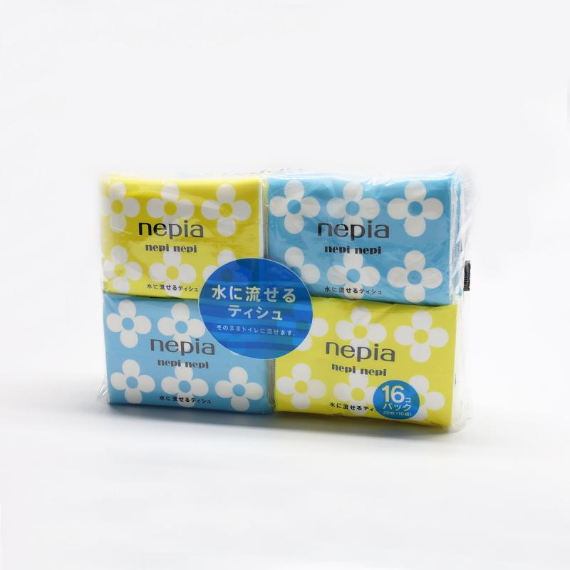Nepia - nepi nepi 日本製 攜帶可沖水紙巾 10張16包套裝