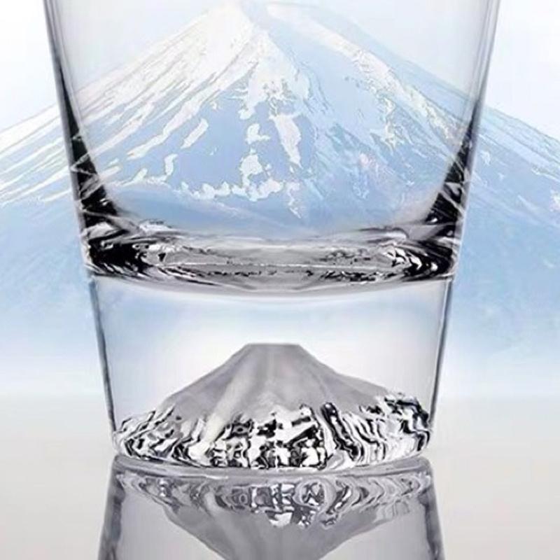 日本入口 - 日本製【江戸硝子】田島硝子 富士山玻璃杯 (工藝原木禮盒) 400ml【市集世界 - 日本市集】