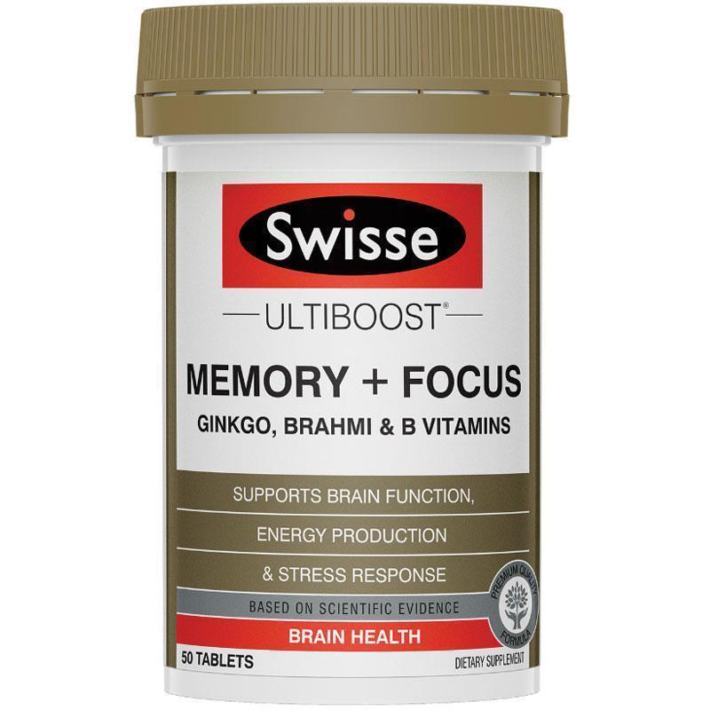 Swisse - 增強記憶力片和提高集中力片 50粒