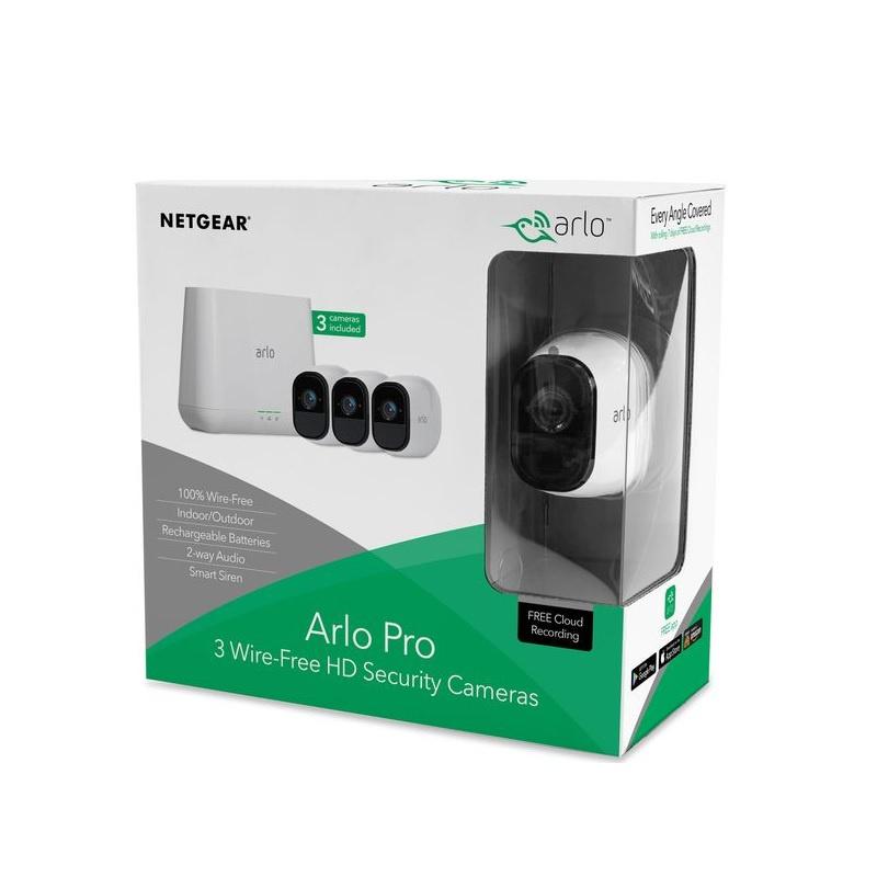 Netgear Arlo Pro 2 Smart Security System with 3 Cameras (VMS4330P)【行貨保養】