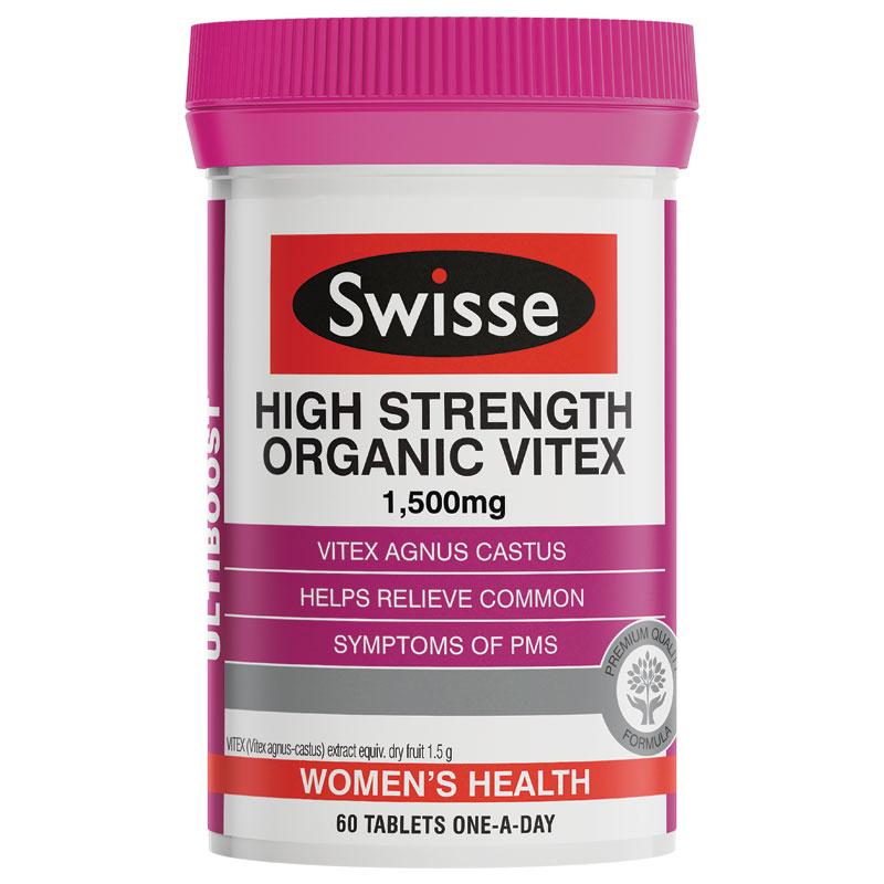 Swisse Organic Vitex 高濃度有機聖潔莓片 60粒