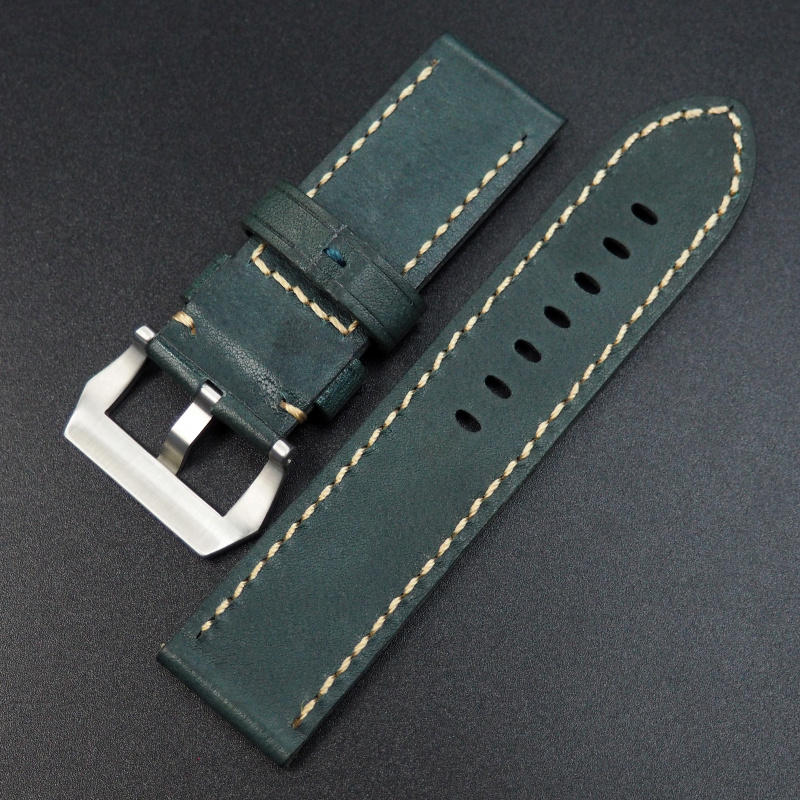 26mm Panerai 綠色高級奧地利牛皮錶帶