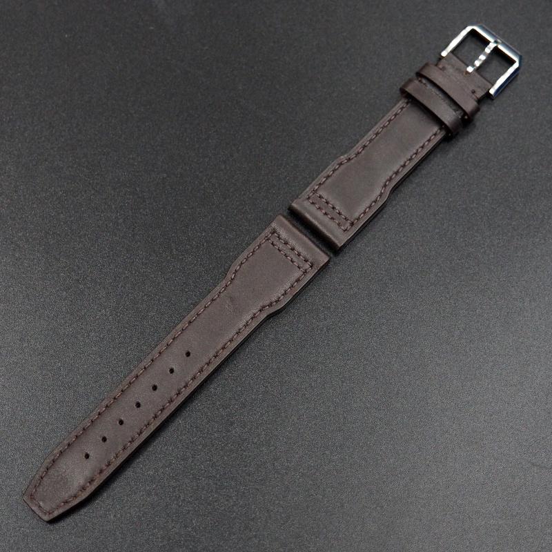 20mm IWC 胡桃棕色牛皮錶帶