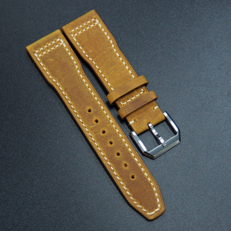 IWC Style Honey Orange Calf Leather Watch Strap