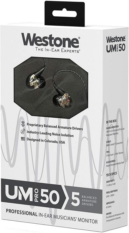 【陳列品DEMO優惠價】Westone UM PRO 50 五動鐵入耳式耳機 (2017版)