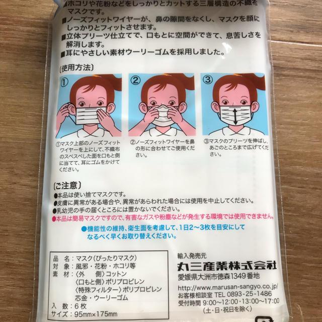 日本丸三産業 三層口罩[6個裝]