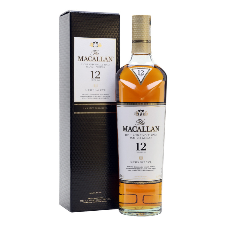 Macallan 12年 Sherry Oak - 70cl/40%