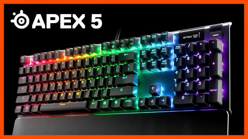 Steelseries Apex 5 青軸全彩光機械式鍵盤