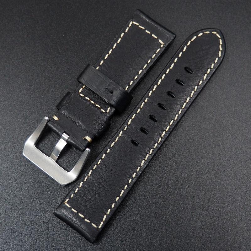 20mm 黑色牛皮錶帶