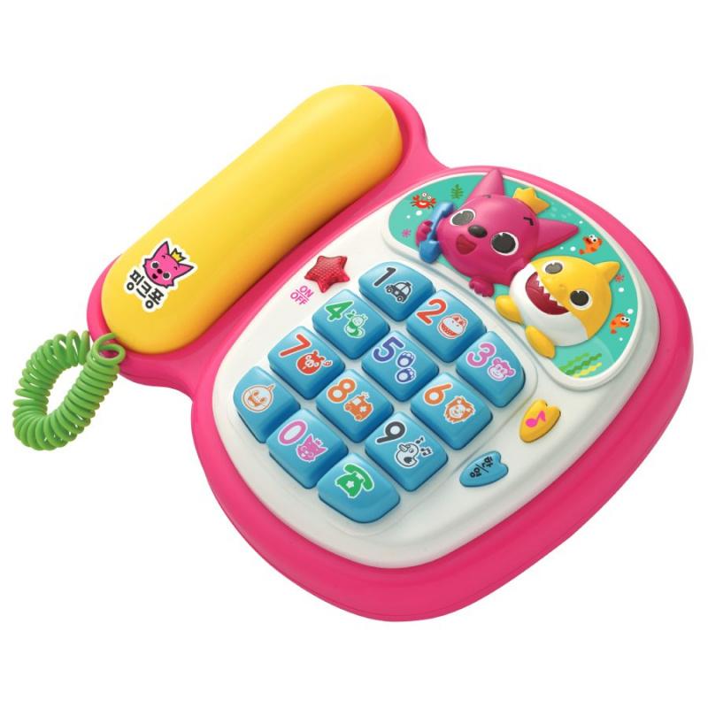 Pinkfong baby shark 碰碰狐唱歌音樂電話-香港行貨
