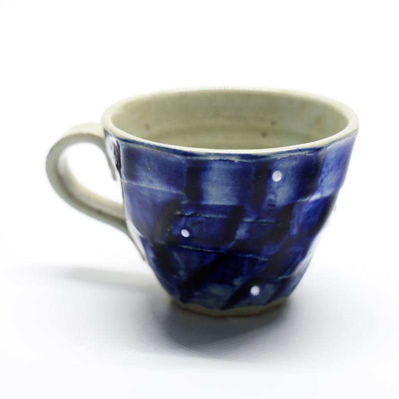 BISQUE - 日本製美濃焼陶器波點紋茶杯