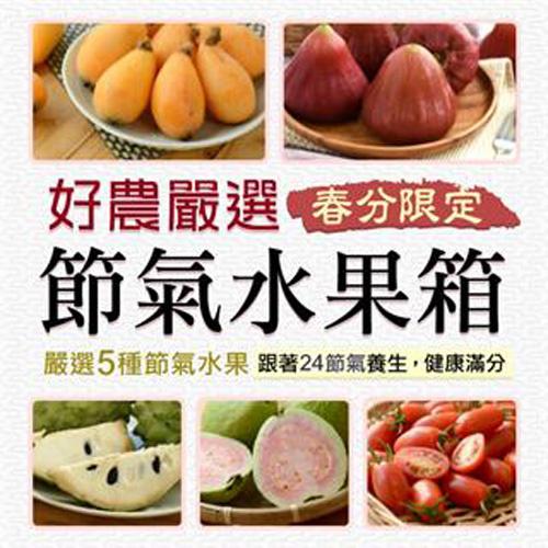 台灣新鮮採摘直送 -(嚐鮮單箱)節氣水果箱