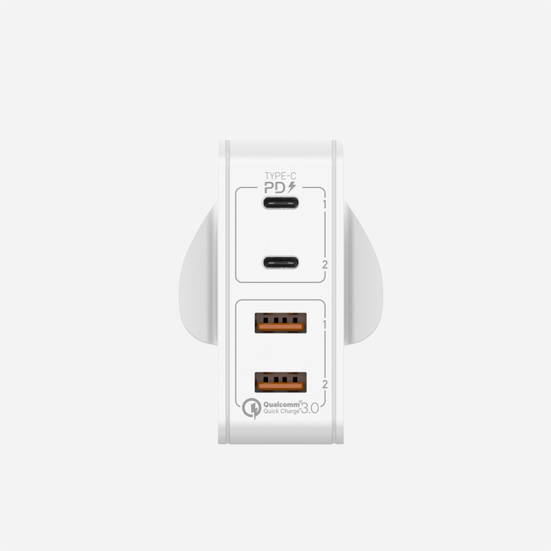 Momax One Plug 66W 雙PD 4插口快速充電器 (Type-C PD x 2 + QC 3.0 USB x 2)