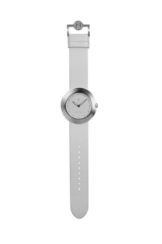 瑞士 NOVE Streamliner 系列 女士石英錶 (40mm 銀白色 B002-01)