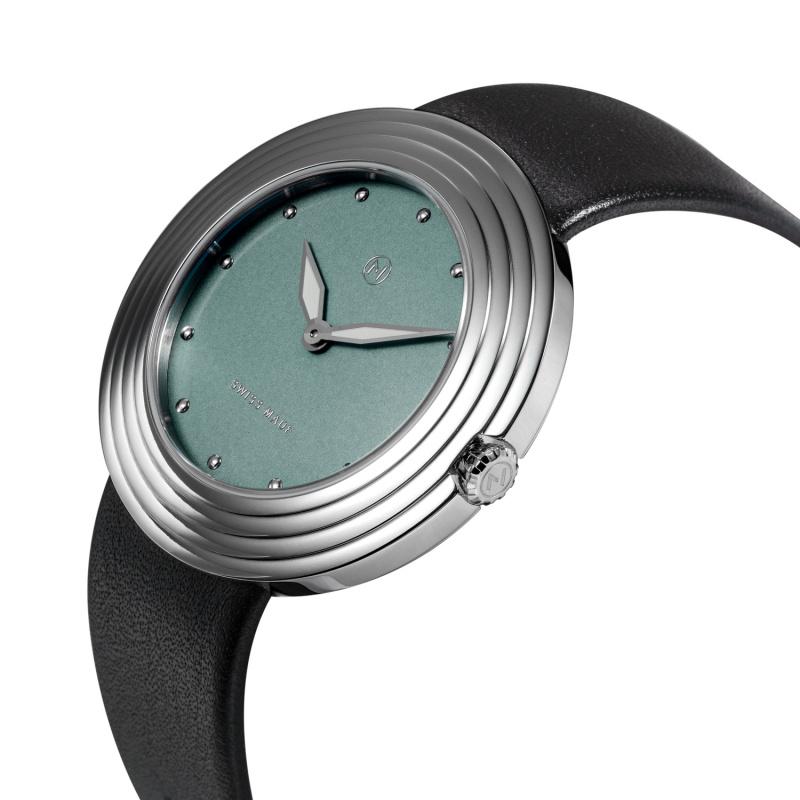 瑞士 NOVE Streamliner 系列 女士石英錶 (40mm 黑藍色) [B003-01]