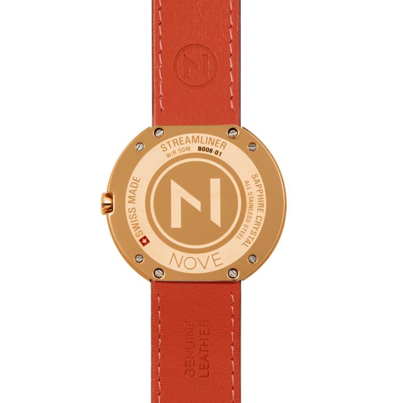 瑞士 NOVE Streamliner 系列 女士石英錶 (40mm 啡玫瑰) [B008-01]