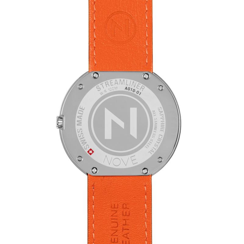 瑞士 NOVE Streamliner 系列 男士石英錶 (46mm 啡玫瑰金 A010-01)