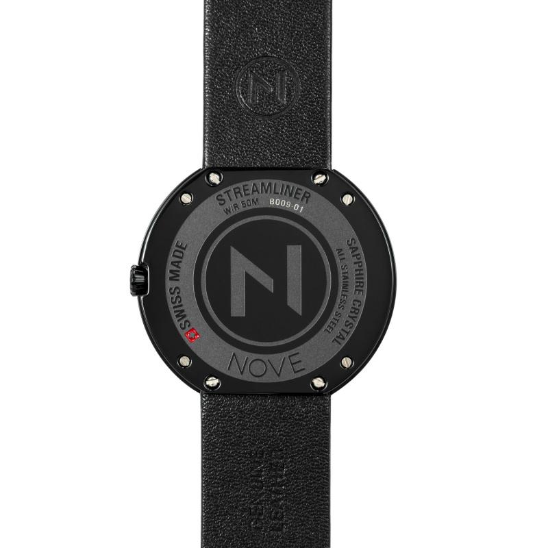 瑞士 NOVE Streamliner 系列 女士石英錶 (40mm黑色) [B009-01]