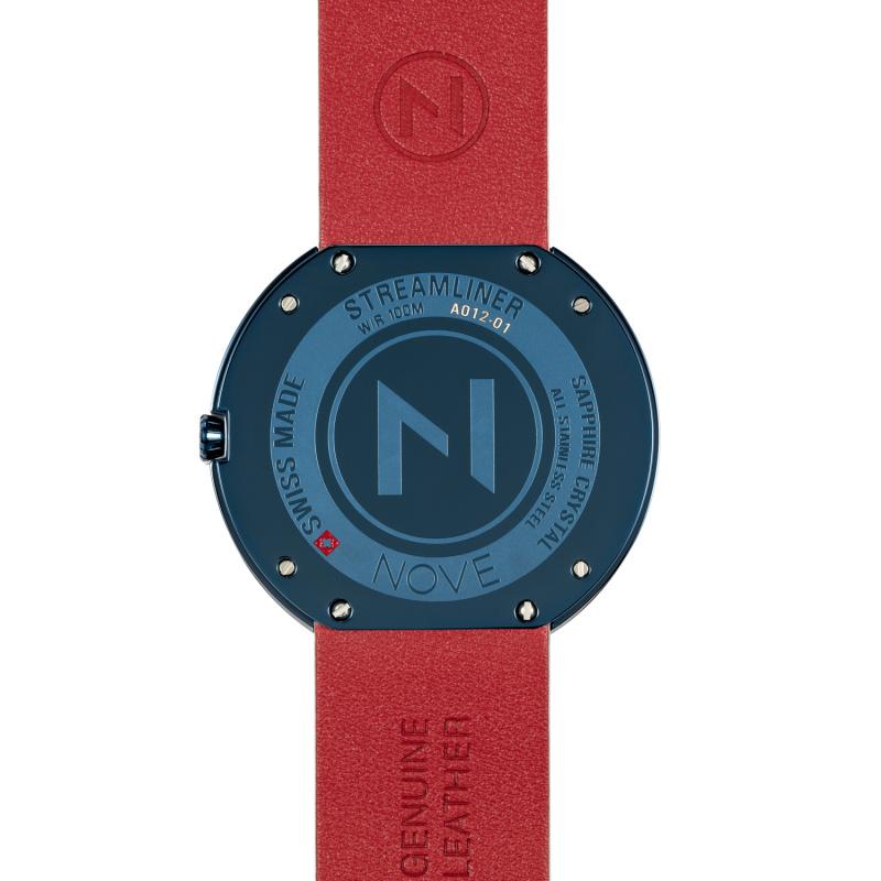 瑞士 NOVE Streamliner 系列 男士石英錶 (46mm 藍白色 A012-01)