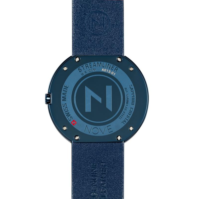 瑞士 NOVE Streamliner 系列 男士石英錶 (46mm 藍色 A013-01)